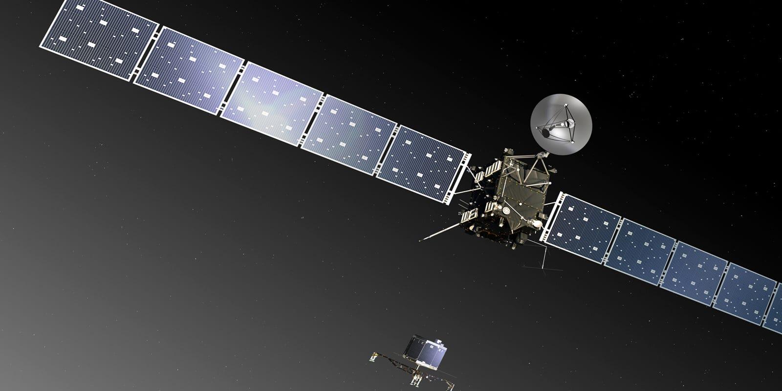 european space agency's rosetta spacecraft - HD1600×800