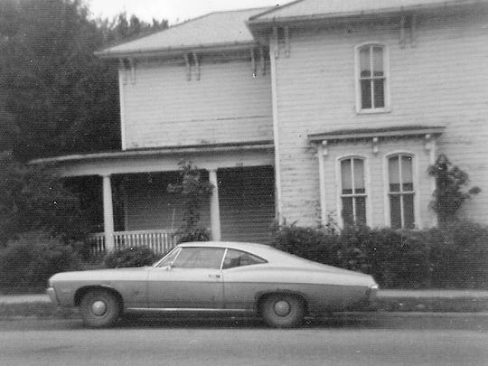 The house that stood on the northwestern corner of Mulberry and North Broad streets is shown here shortly before it was razed in 1976 or 1977.