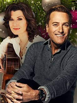 Amy Grant and Michael W. Smith will play a Christmas concert Sunday at the Denny Sanford Premier Center.