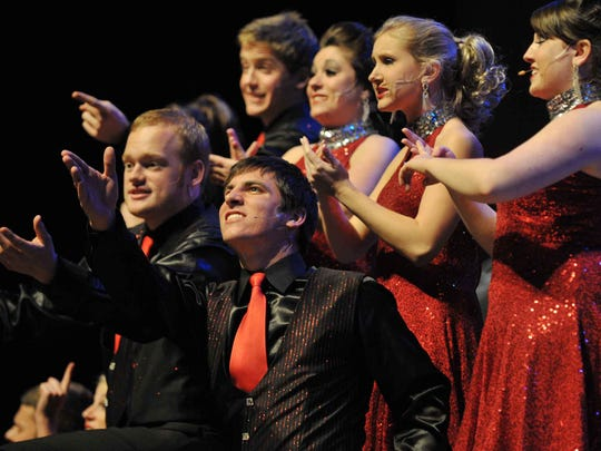 The University Singers perform at a past Muncie Symphony Orchestra Holiday Pops concert.