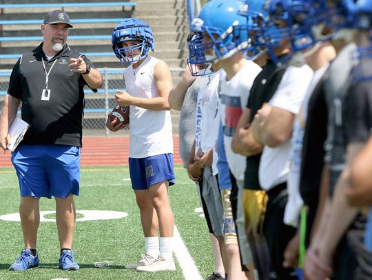 Bremerton High School head football coach Paul Theriault saw another high school team using extra helmet padding during a summer camp in Oregon, and opted to use them with the Knights, both this spring and into the fall.