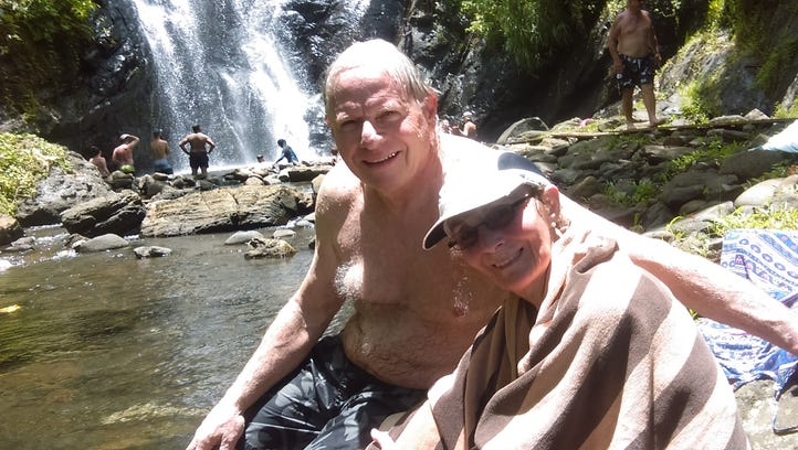 Stan and Susan Hahn traveled to Fiji, where they hiked