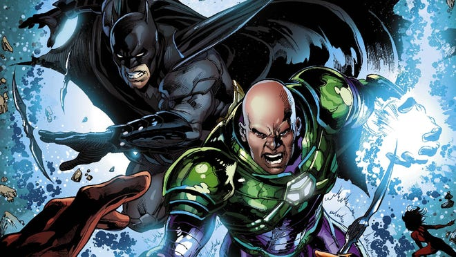 """Batman and Lex Luthor find themselves teamed up and fighting on the same side vs. the Crime Syndicate in """"Forever Evil."""""""