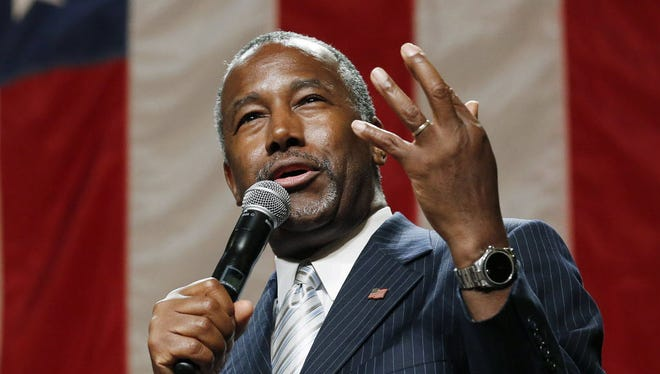 Republican presidential candidate Ben Carson campaigns in Phoenix on Aug. 18, 2015.