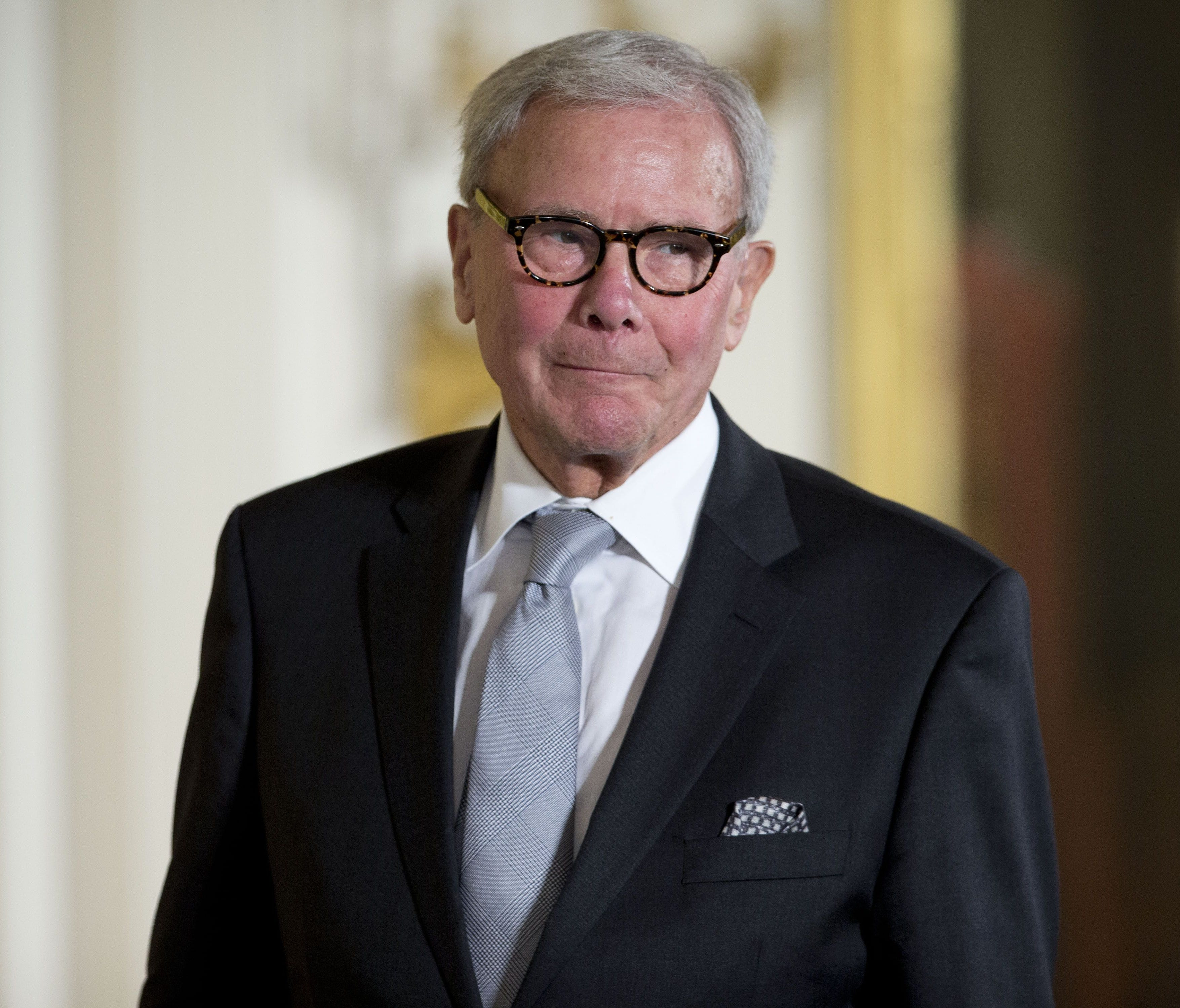 Tom Brokaw is pictured as receives the Presidential Medal of Freedom during a White House ceremony in 2014.