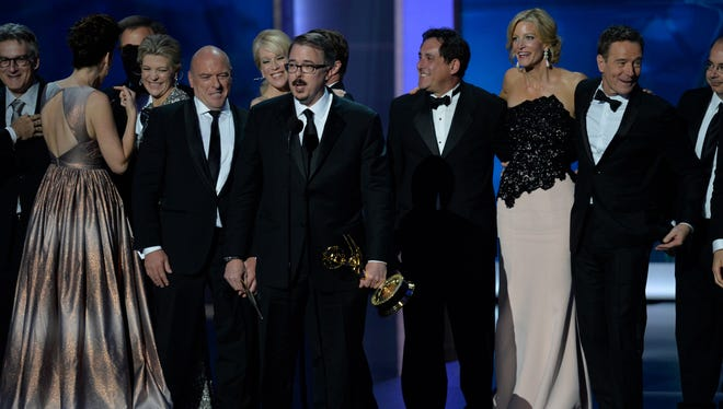 Breaking Bad cast and company at the 2013 Emmy Awards.