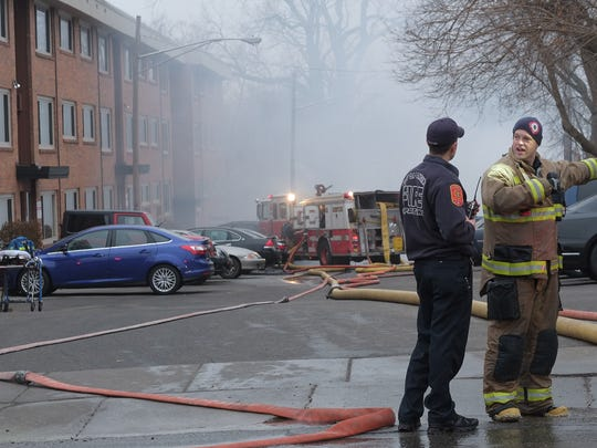 Lansing firefighters brought a fire at 206 East Malcolm X Street in Lansing this morning under control. The building will be demolished later today, officials said.