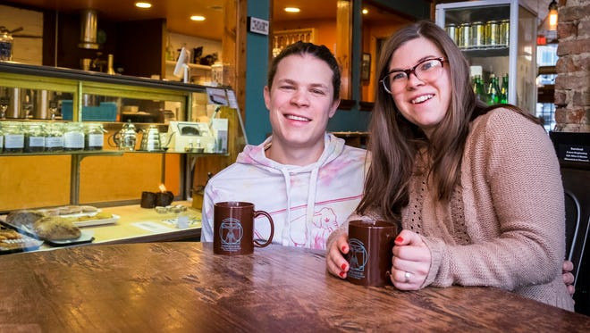 Maggie and Nathaniel Bottenfield recently took ownership of the Exquisite Corpse Coffee House in downtown Port Huron. Maggie worked at the coffee house for a while, and when the former owner retired, she gave the restaurant to the young couple.