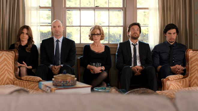 """Tina Fey, from left, Corey Stoll, Jane Fonda, Jason Bateman and Adam Driver star in """"This Is Where I Leave You."""""""