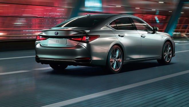 Lexus shows off its new  ES sedan