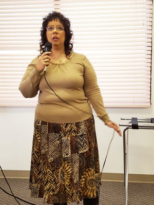 Priscilla Lucero from the Council of Governments was the guest speaker at TuesdayÕs Silver City Rotary Club meeting. She spoke about what the Council of Governments does, and about the roughly $45 million that Colonias designation has brought to the four county region (Grant, Luna, Hidalgo, and Catron).