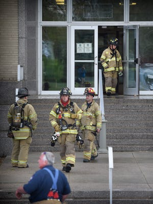 At 2:57 p.m. Tuesday, April 26, Lebanon City firefighters responded to a report of an electrical fire at the Lebanon County Municipal Building at 400 S. Eighth St. The road was closed for a short time while emergency crews l investigated. The fire was quickly extinguished before the smoke detectors were activated.