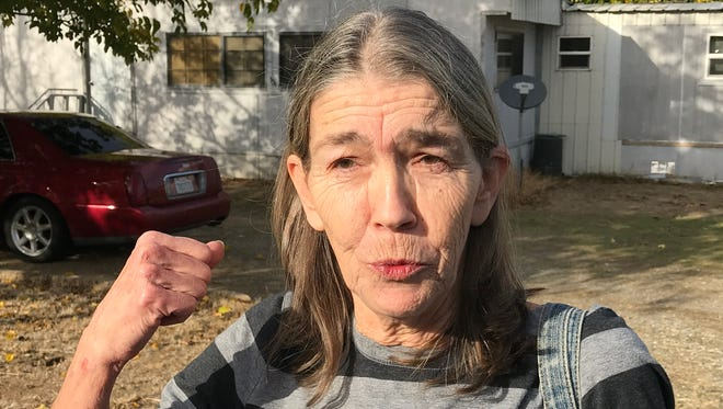 Sharon, who only wanted to give her first name, describes the exchange of gunfire between police and the shooter on Rancho Tehama Road on Tuesday. The suspect, Kevin Neal, is blamed in the deaths of four people and wounding 10 others.