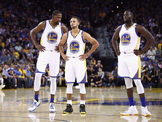 Kevin Durant Stephen Curry Draymond Green