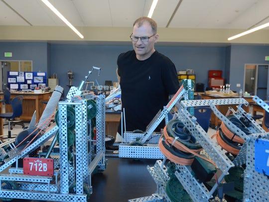 Indio High School engineering teacher Mylo Hildebrand