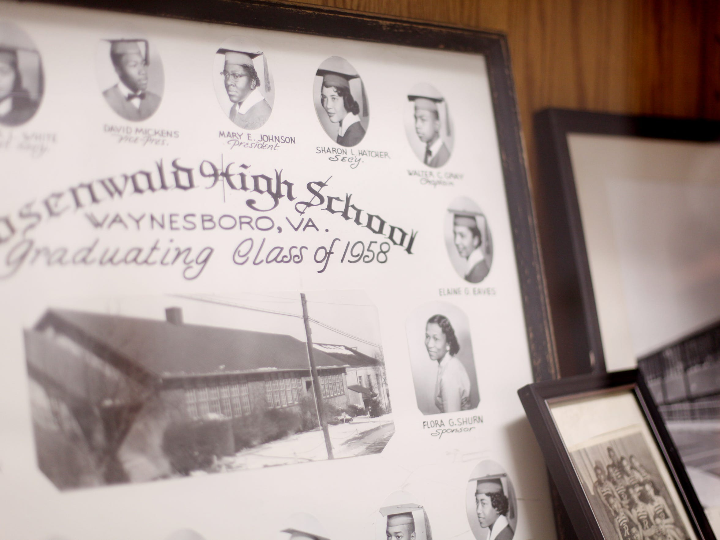 Graduation class photos and trophies are remembered