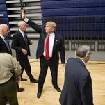 Donald Trump campaigns in Marshalltown, Iowa, on Jan. 26, 2016.