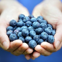 Getty Images / iStockphotoTime magazine lists blueberries among 10 foods that can help improve the look of skin and hair by providing vitamins and nutrients for healthy hair growth and increased cell turnover. Time magazine lists blueberries among 10 foods that can help improve the look of skin and hair by providing vitamins and nutrients for healthy hair growth and increased cell turnover.