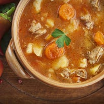 Throw some chicken (or another meat) into a pot for a good meal.