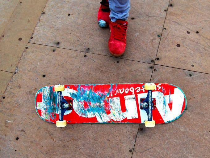 Scenes from the Bonita Springs Skatepark on Saturday.