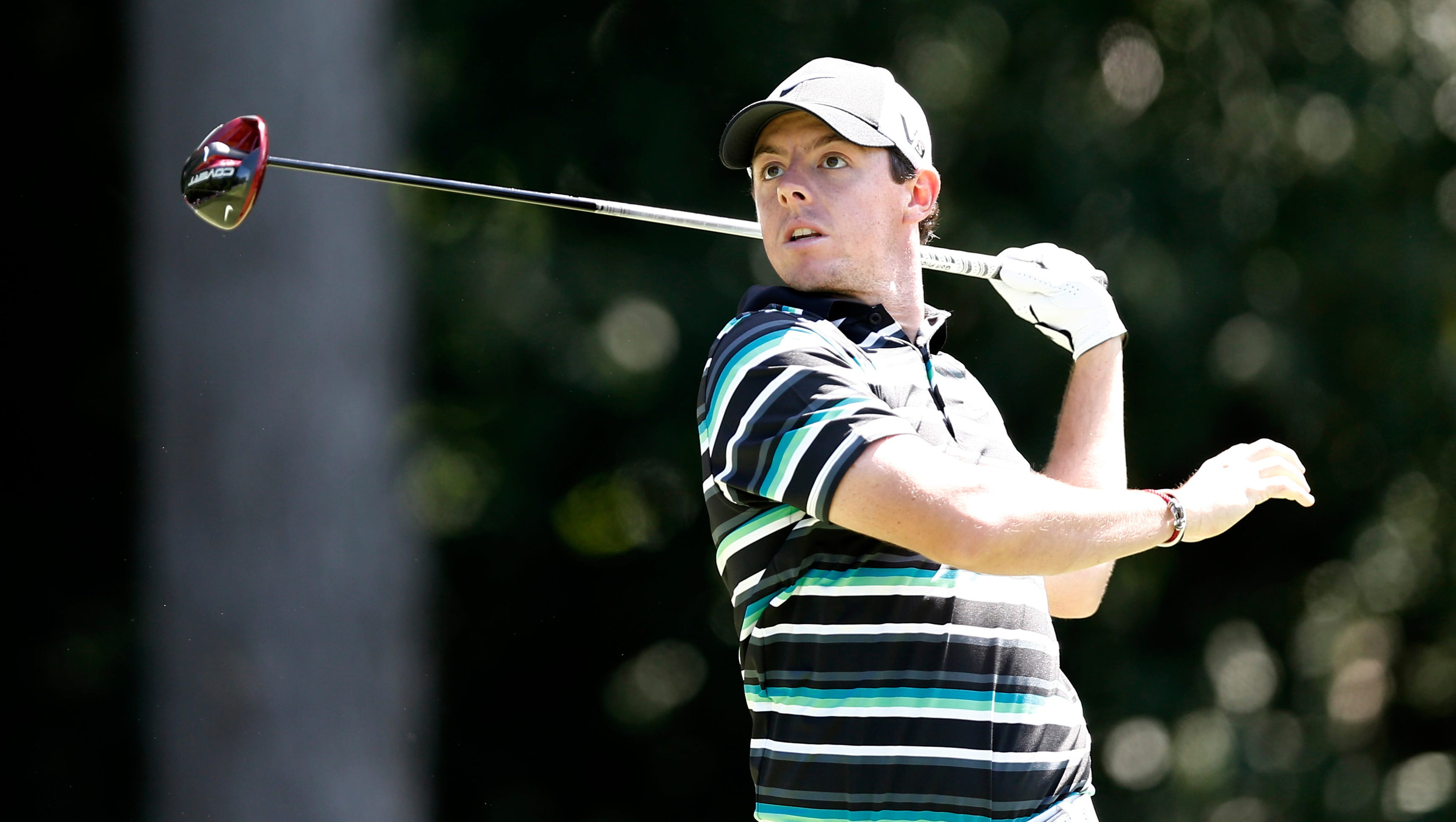 Rory McIlroy's tee shot at No. 4 is headed toward the rough.