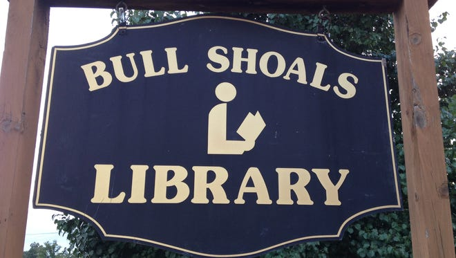 Bull Shoals Library sign