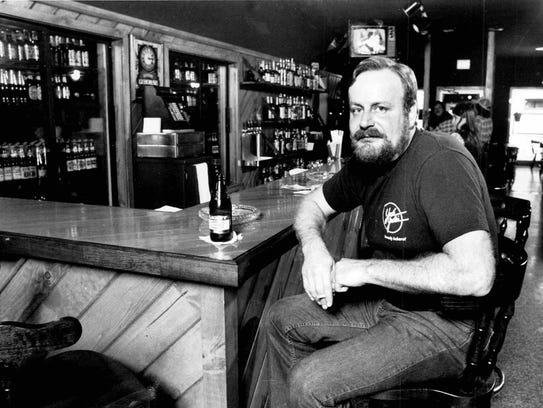 Don Scorgie shown in the bar area of his restaurant,