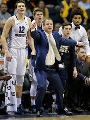 Marquette coach Steve Wojciechowski urges his team