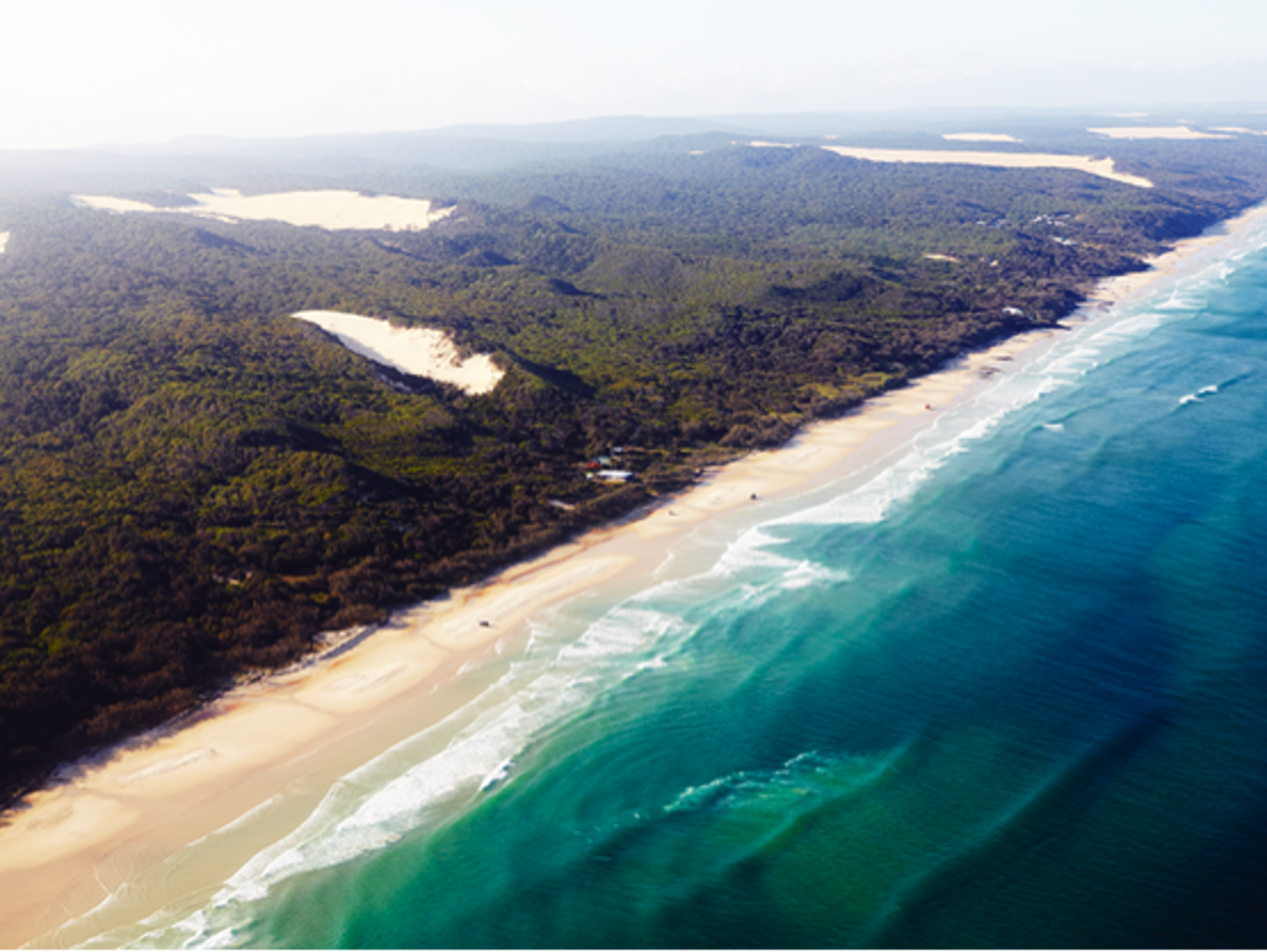 Fraser Island stretches over 76 miles