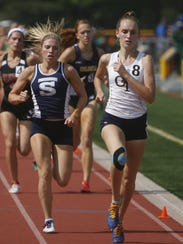Middletown South's Madison Brand, left, and Northern