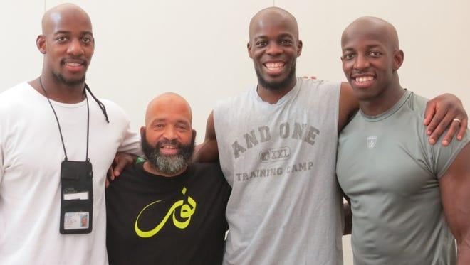 Hamza, Yusuf Johnwell, Abbas , and Husain Abdullah shaved heads after Hajj.   Kansas City Chiefs [Via MerlinFTP Drop]