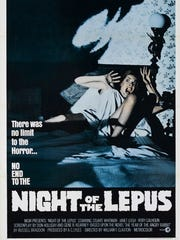"Poster for the 1972 film ""Night of the Lepus."""