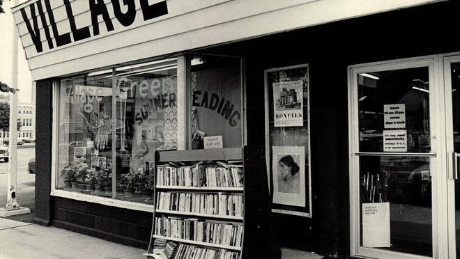 """This 1980 file photo shows the exterior of Village Green Bookstore on Monroe Avenue. The store """"catered to people who were hungry for books,"""" one of the owners said."""