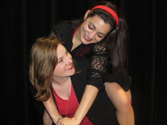 """Katie Beth Jewell (left) and Sonia Arredondo star in """"Stop Kiss,"""" Friday-Sunday at the Warehouse Theater."""