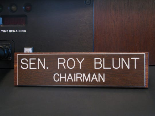 Roy Blunt's first committee chairmanship nameplate.