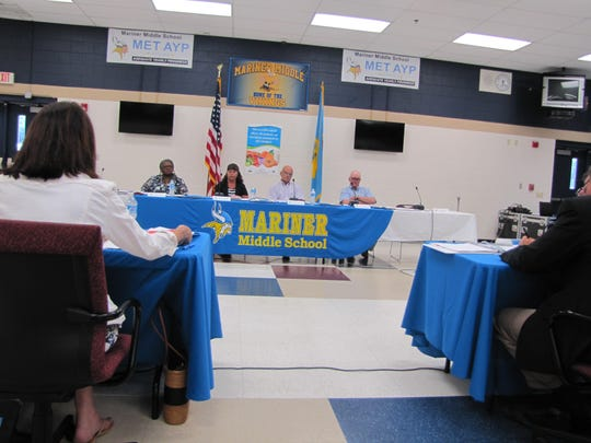 Four of six who applied for a spot on the Cape Henlopen school board took part in a candidates forum Thursday.