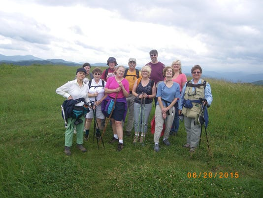 YMCA Woodfin hikers Max Patch