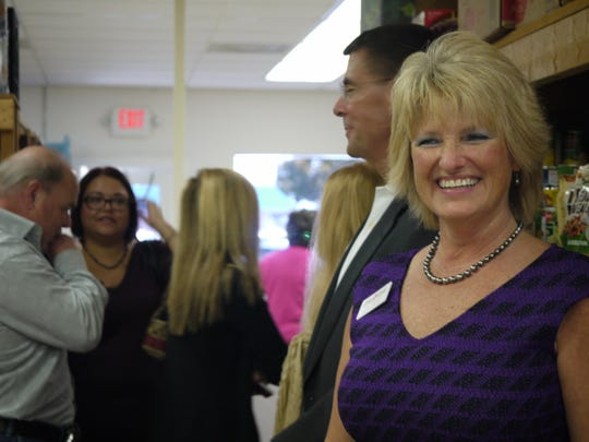 Julie Ferguson thanked business leaders, volunteers and board members during the ceremony.