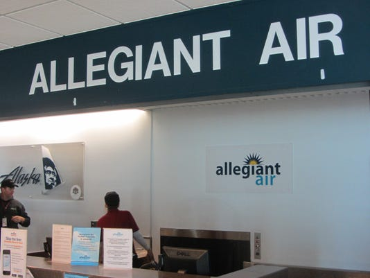 Allegiant Air counter for online