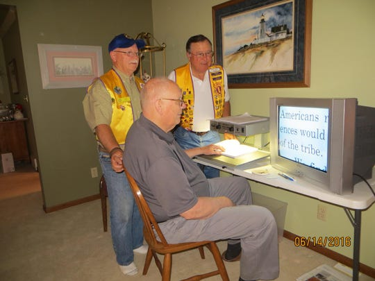 Rothschild-Weston Lions Club Donates Reader for Sight Handicapped