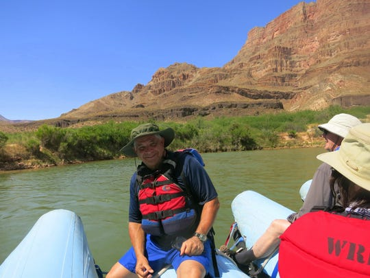 Ernie Dorling of Suntree rafted down the Colorado River through the Grand Canyon.