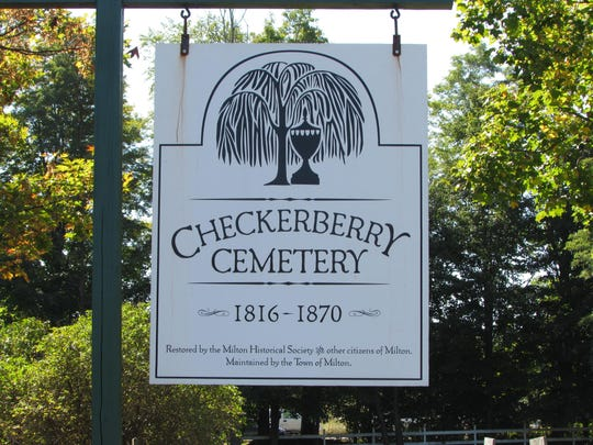 The Checkerberry Cemetery is located on U.S. 7, south of Milton village. Started in 1816, it has long ago closed, no longer accepting new grave sites since 1870.