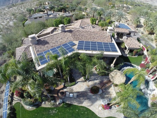 A Southern California Energy Alternatives installation in the Coachella Valley.