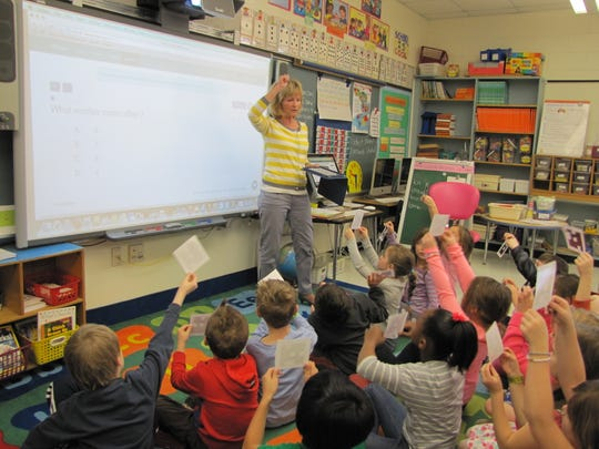 First grade students in Diane Marshall's classroom
