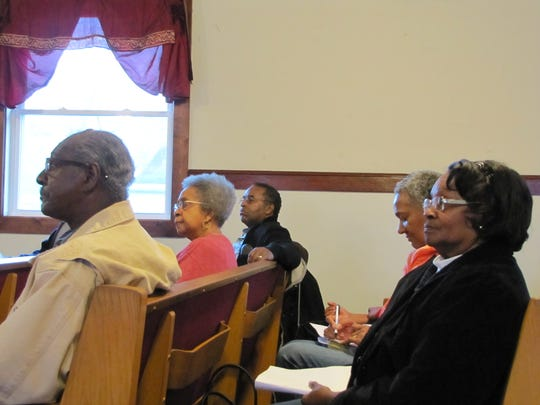 Community members came out to a meeting of the Richard Allen Coalition to learn more about the group's cause and goals.