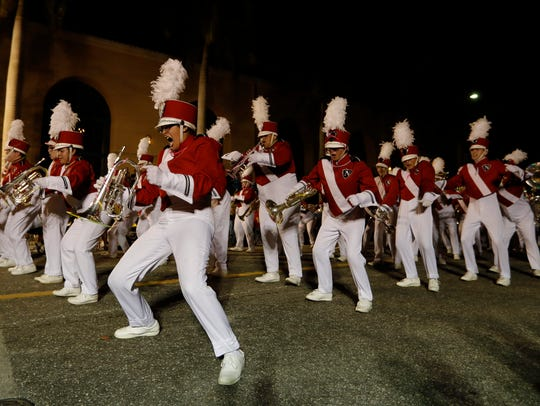 Marching bands were among the most active performers during last year's Edison Festival of Light Grand Parade.