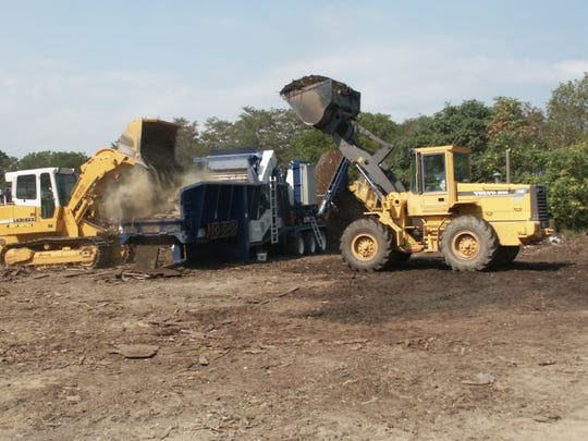 Equipment in 2002 clears an area on Letterkenny Army Depot so a former landfill site can be tested for contamination.