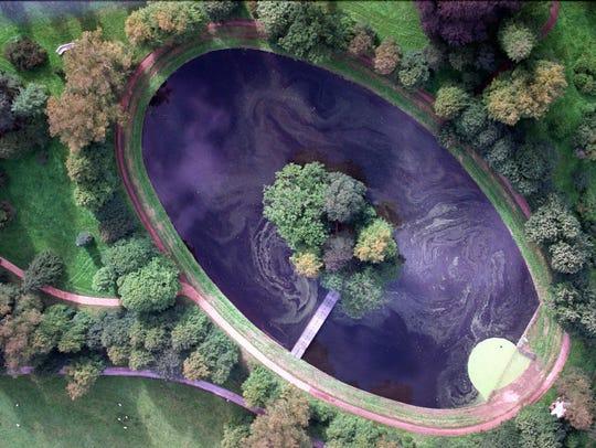 Sept. 5, 1997, aerial photo of the island where Princess