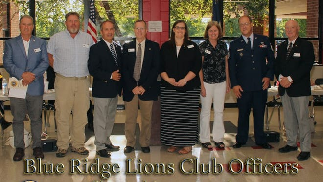 The Blue Ridge Lions Club sprang to life earlier this month with an initiation ceremony that drew officials and dignitaries from across the state.