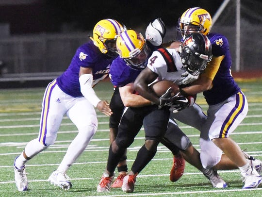 Parkway's E.J. Williams tries to get through the Byrd